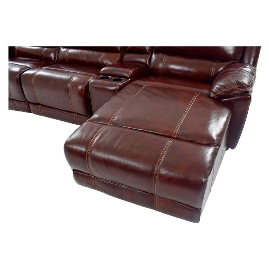 Theodore Burgundy Power Motion Leather Sofa W/Right Chaise Alternate Image,  7 Of 8