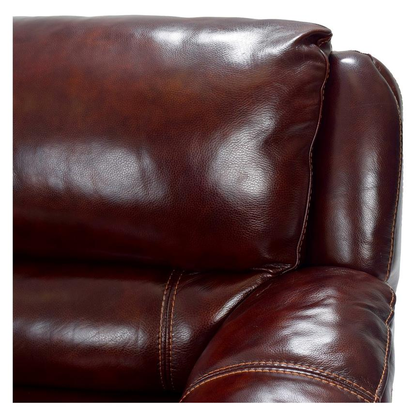 Theodore Burgundy Motion Leather Sofa W Right Left Recliners Alternate Image 6