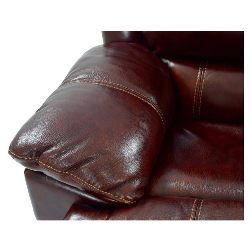 Theodore Burgundy Power Motion Leather Sofa w/Right & Left Recliners  alternate image, 7 of 8 images.
