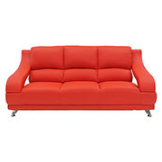 Jedda Red Leather Sofa  alternate image, 2 of 5 images.