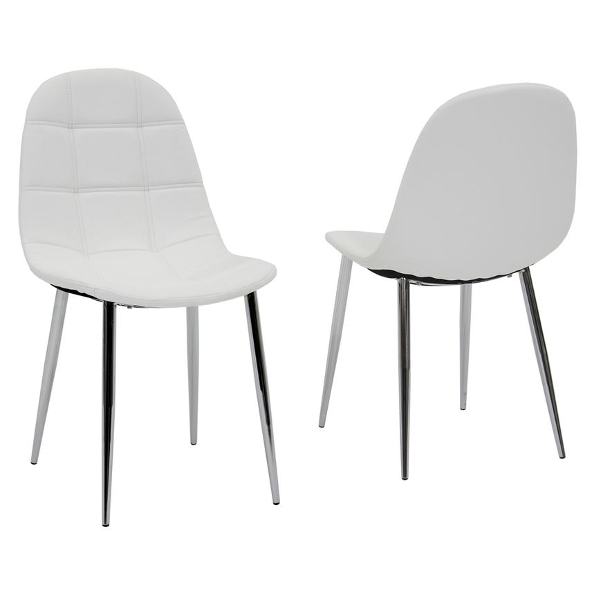 Clotus White Side Chair  main image, 1 of 3 images.