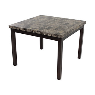 Achillea Brown Square Counter Table