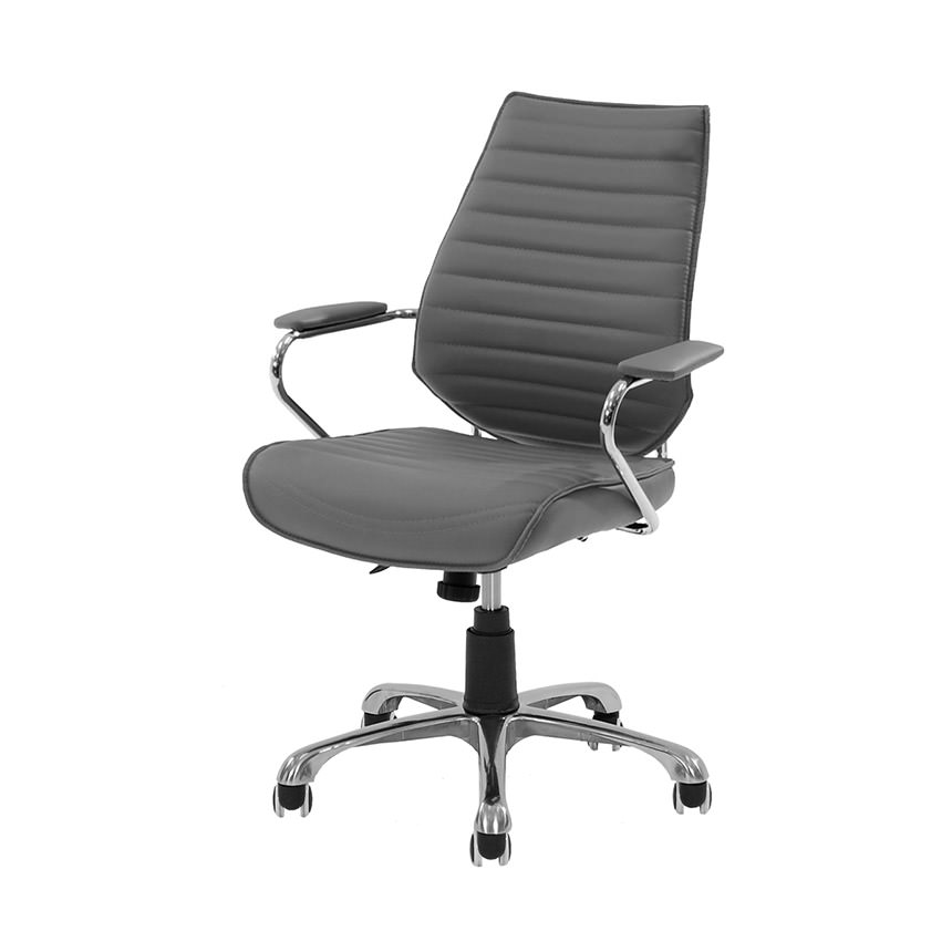 Enterprise Gray Desk Chair  main image, 1 of 6 images.