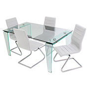 Vera/Janet White 5-Piece Casual Dining Set  main image, 1 of 11 images.