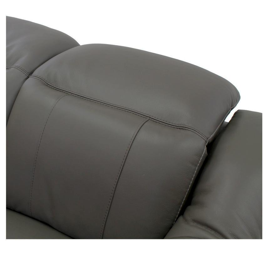 Davis Gray Power Motion Leather Sofa  alternate image, 6 of 10 images.