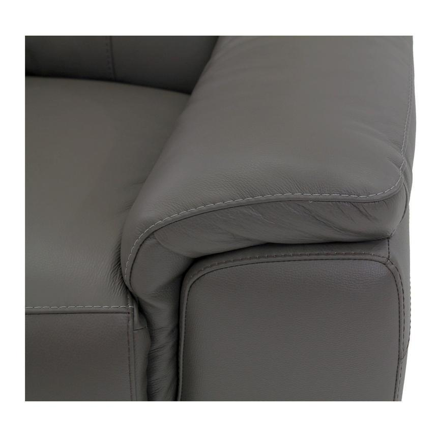 Davis Gray Power Motion Leather Loveseat  alternate image, 6 of 9 images.