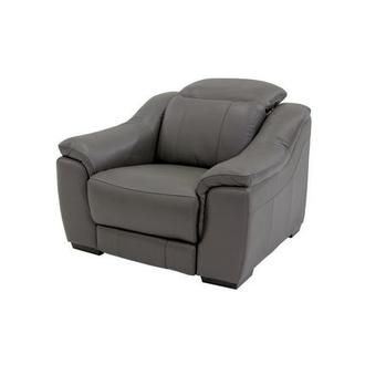 Davis Gray Power Motion Leather Recliner
