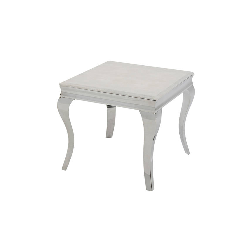 Lizbon White Side Table  main image, 1 of 5 images.