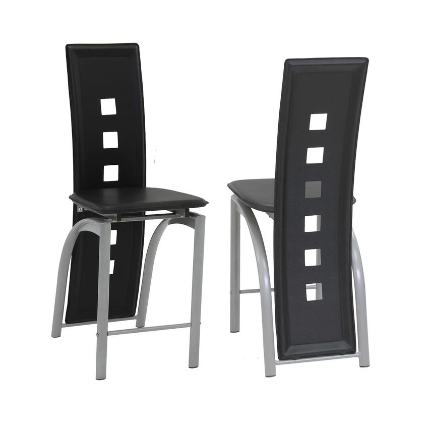 Dominoes Black Counter Stool  main image, 1 of 4 images.