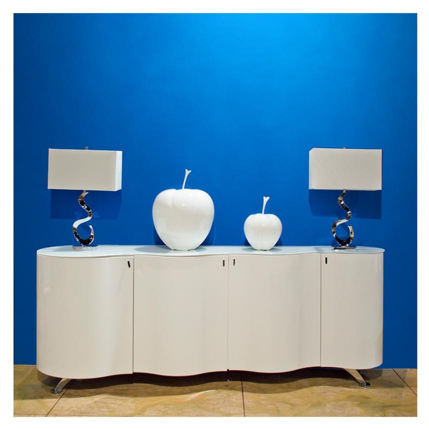 Medium White Apple Table Decor Alternate Image, 2 Of 4 Images.