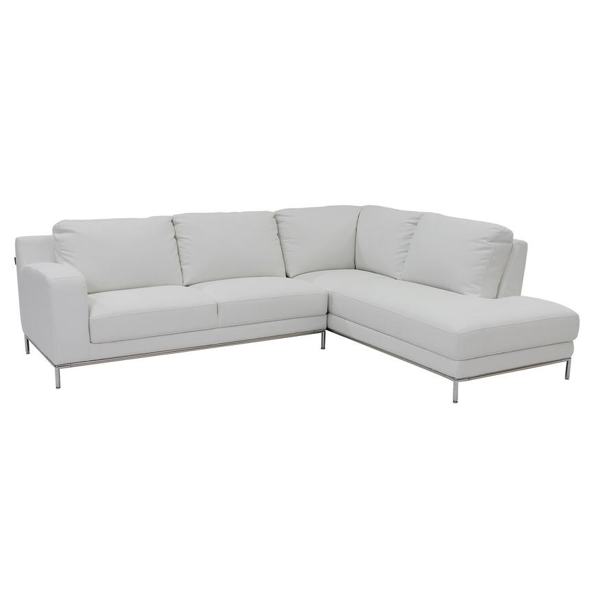 Cantrall White Sofa W Right Chaise Main Image 1 Of 6 Images
