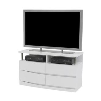 Brighton White TV Chest