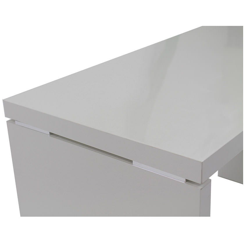 Sedona White L Shaped Desk Made In Italy Alternate Image 5 Of 6 Images
