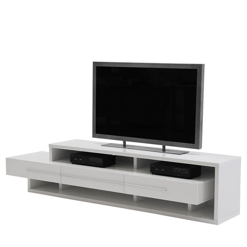 Avanti White TV Stand  main image, 1 of 6 images.