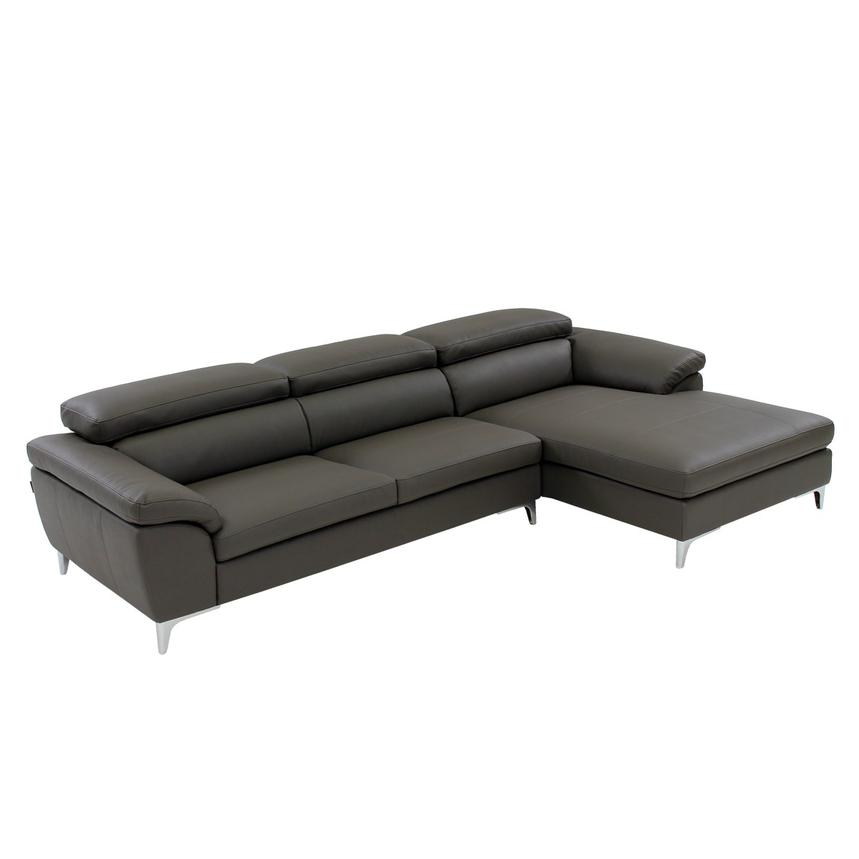 Costa Gray Sofa W Right Chaise Main Image 1 Of 7 Images