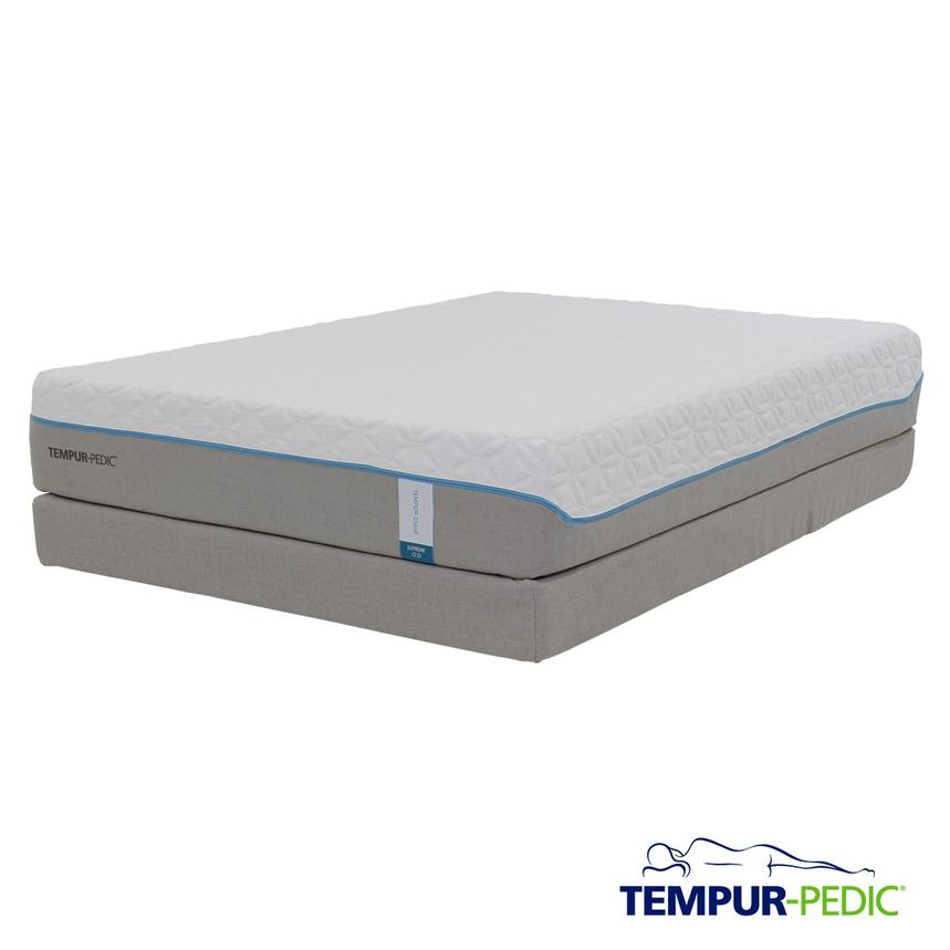 Cloud Supreme Memory Foam Queen Mattress Set w/Low Foundation by Tempur-Pedic  main image, 1 of 5 images.