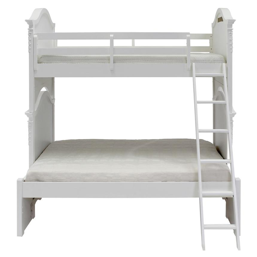 Sweet Pea White Twin Over Full Bunk Bed  main image, 1 of 7 images.
