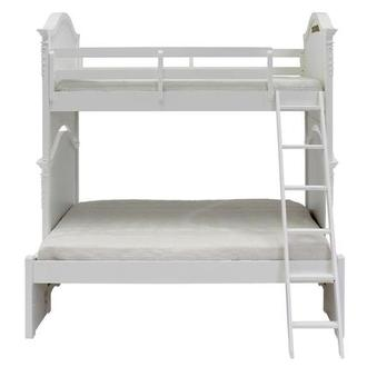 Attractive Sweet Pea White Twin Over Full Bunk Bed