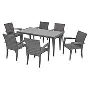 Neilina Gray 7-Piece Patio Set  main image, 1 of 10 images.