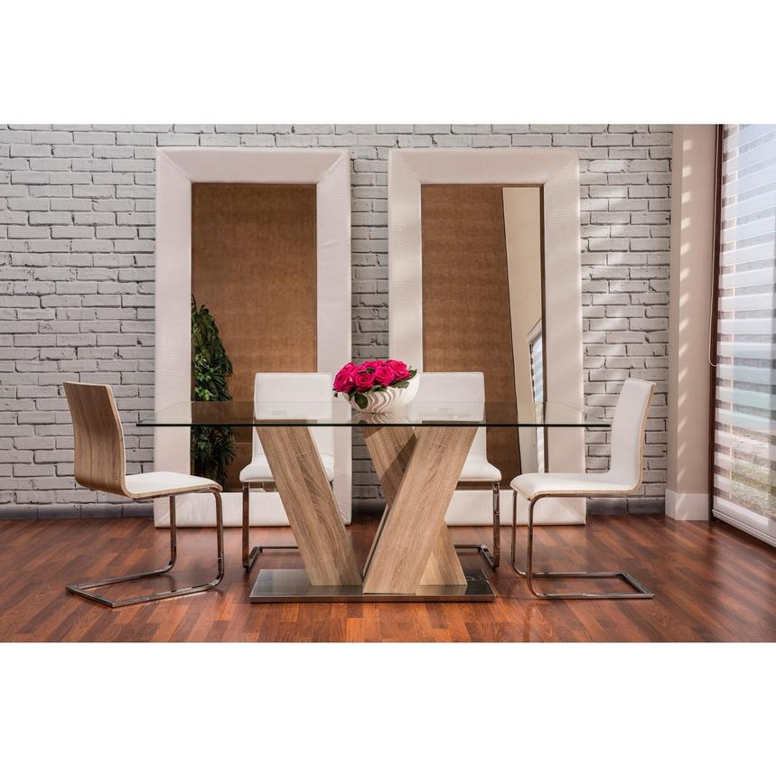 Solimar White 5-Piece Casual Dining Set  alternate image, 2 of 11 images.