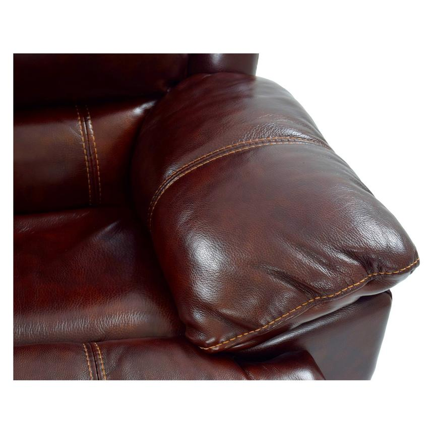 Theodore Burgundy Power Motion Leather Sofa w/Right & Left Recliners  alternate image, 6 of 8 images.