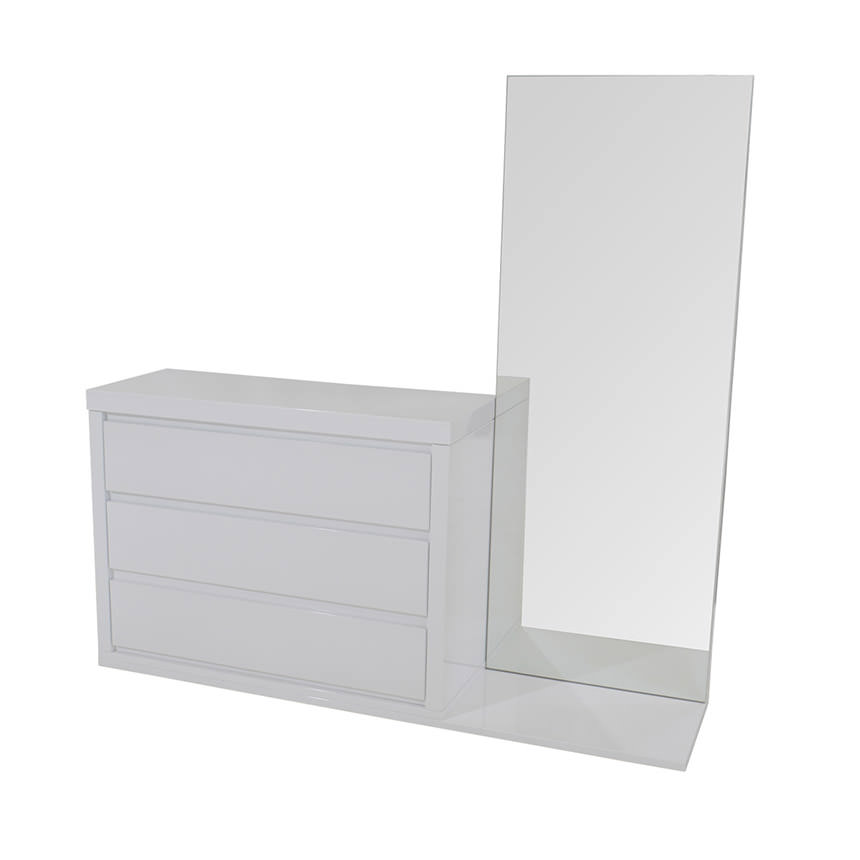 Attractive Sharon White Dresser W/Mirror Main Image, 1 Of 6 Images.