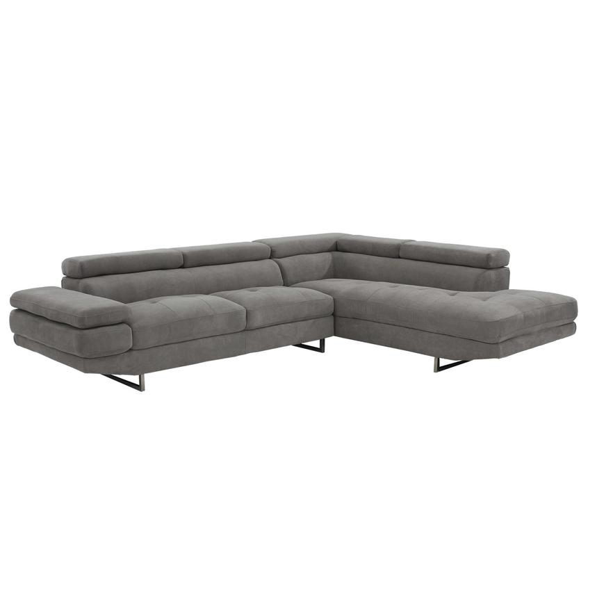 Taheri Gray Sofa w/Right Chaise  main image, 1 of 8 images.