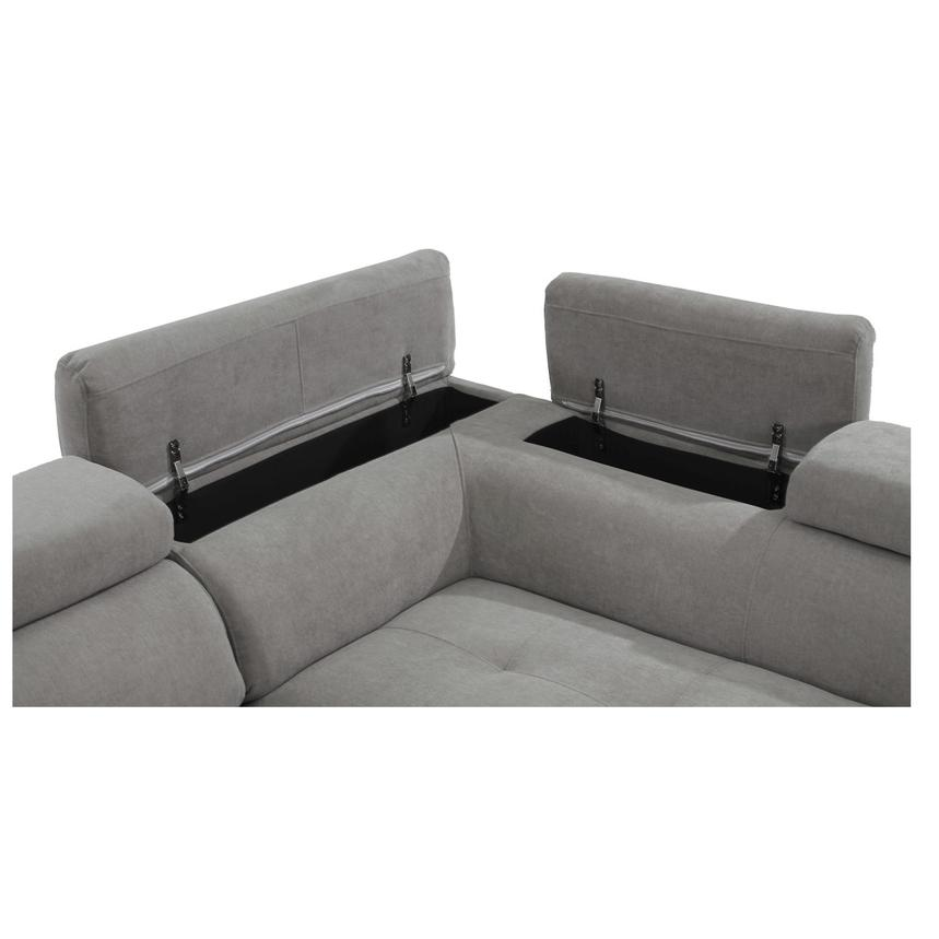Taheri Gray Sofa w/Right Chaise  alternate image, 6 of 8 images.