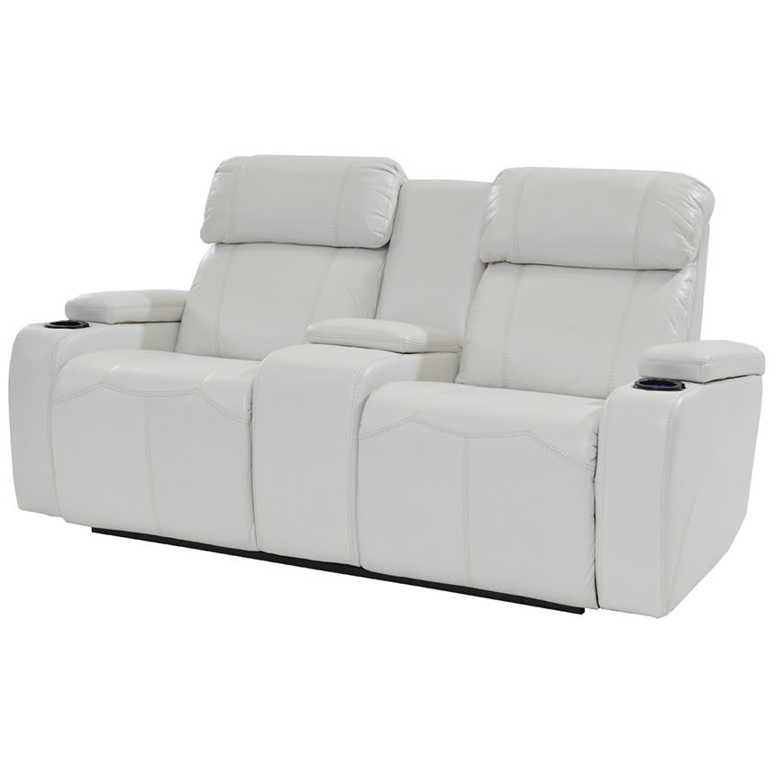 Magnetron White Power Motion Sofa w/Console  main image, 1 of 9 images.