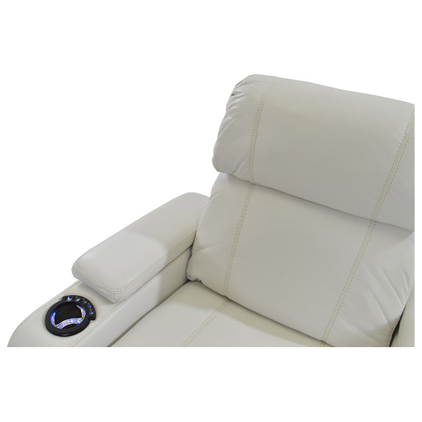 Magnetron White Power Motion Sofa w/Console  alternate image, 6 of 9 images.