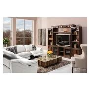 Davis White Power Motion Leather Sofa w/Right & Left Recliners  alternate image, 2 of 10 images.