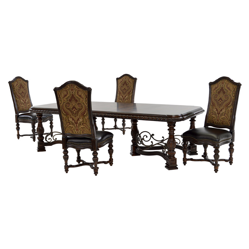 Opulent 5-Piece Formal Dining Set  main image, 1 of 15 images.