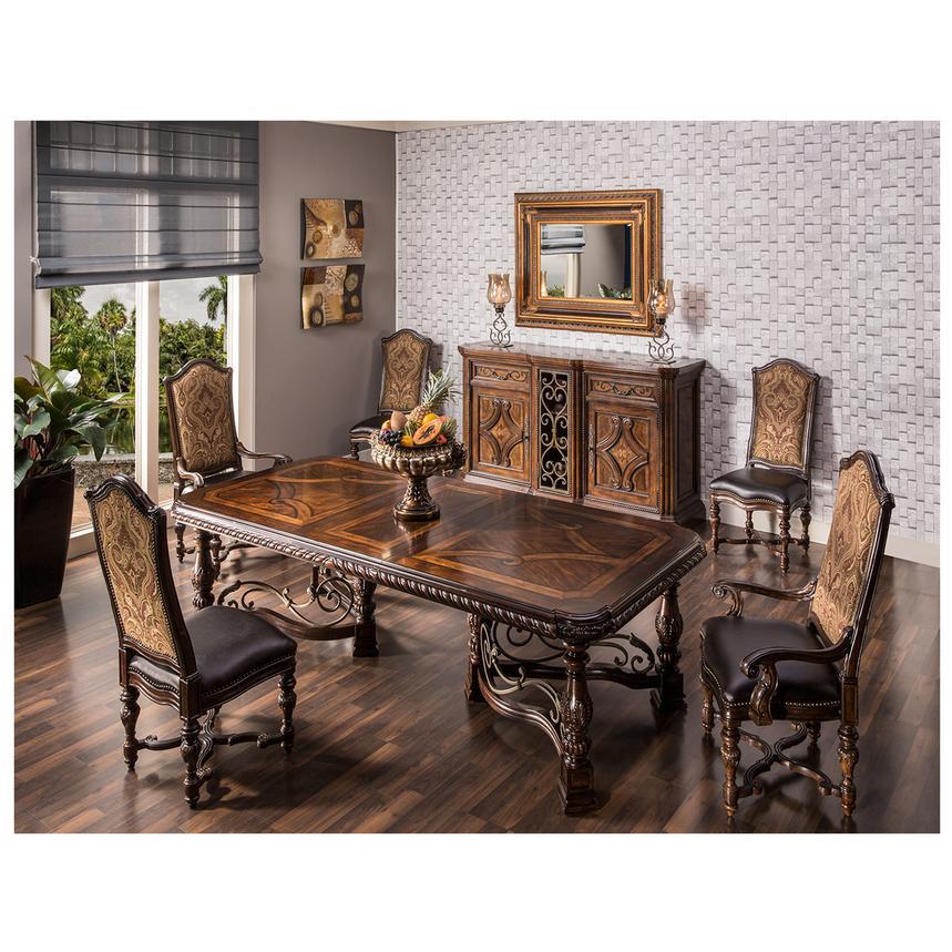 Opulent 5 Piece Formal Dining Set Alternate Image 2 Of 15 Images