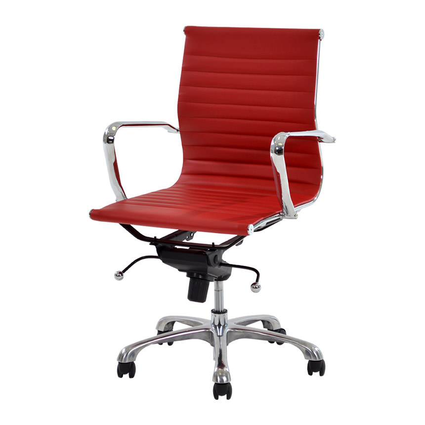 Watson Red Low Back Desk Chair  main image, 1 of 8 images.