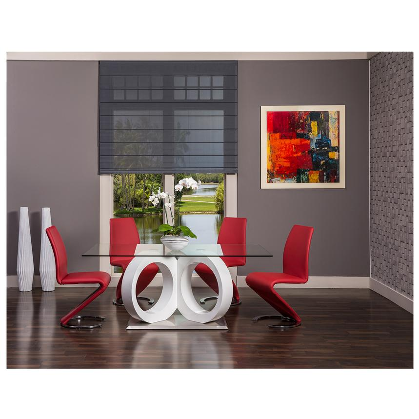 Merveilleux Stop 36 Red 5 Piece Formal Dining Set Alternate Image, 2 Of 12 Images