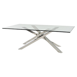 Cyprus Clear Rectangular Dining Table