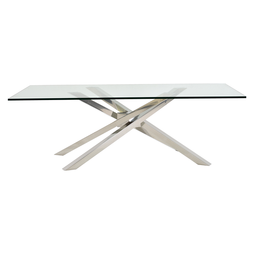 Cyprus Clear Rectangular Dining Table Alternate Image 2 Of 4 Images