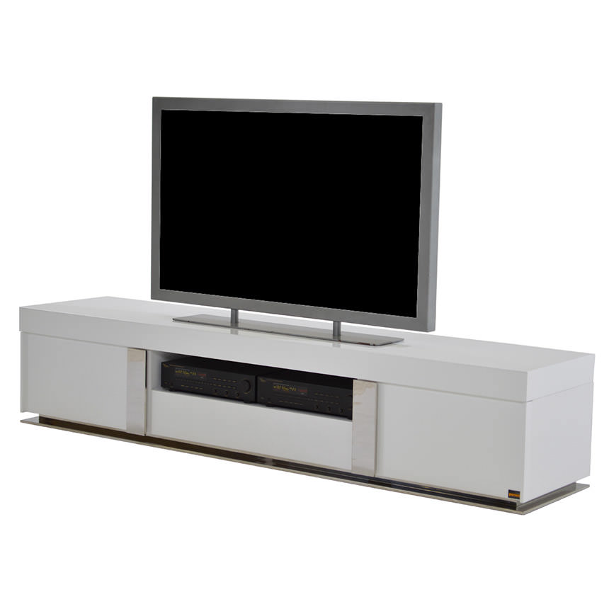 Grand Night White Gloss TV Stand  main image, 1 of 6 images.