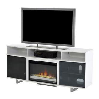Enterprise White Faux Fireplace w/Remote Control