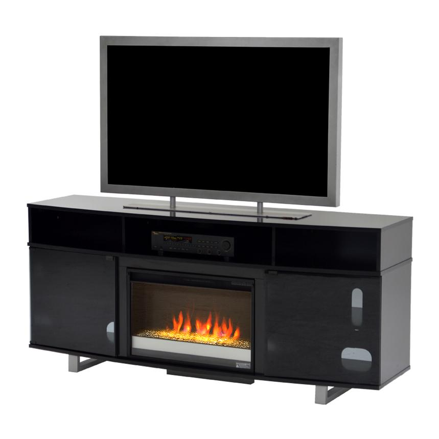 Enterprise Black Faux Fireplace w/Remote Control  main image, 1 of 5 images.