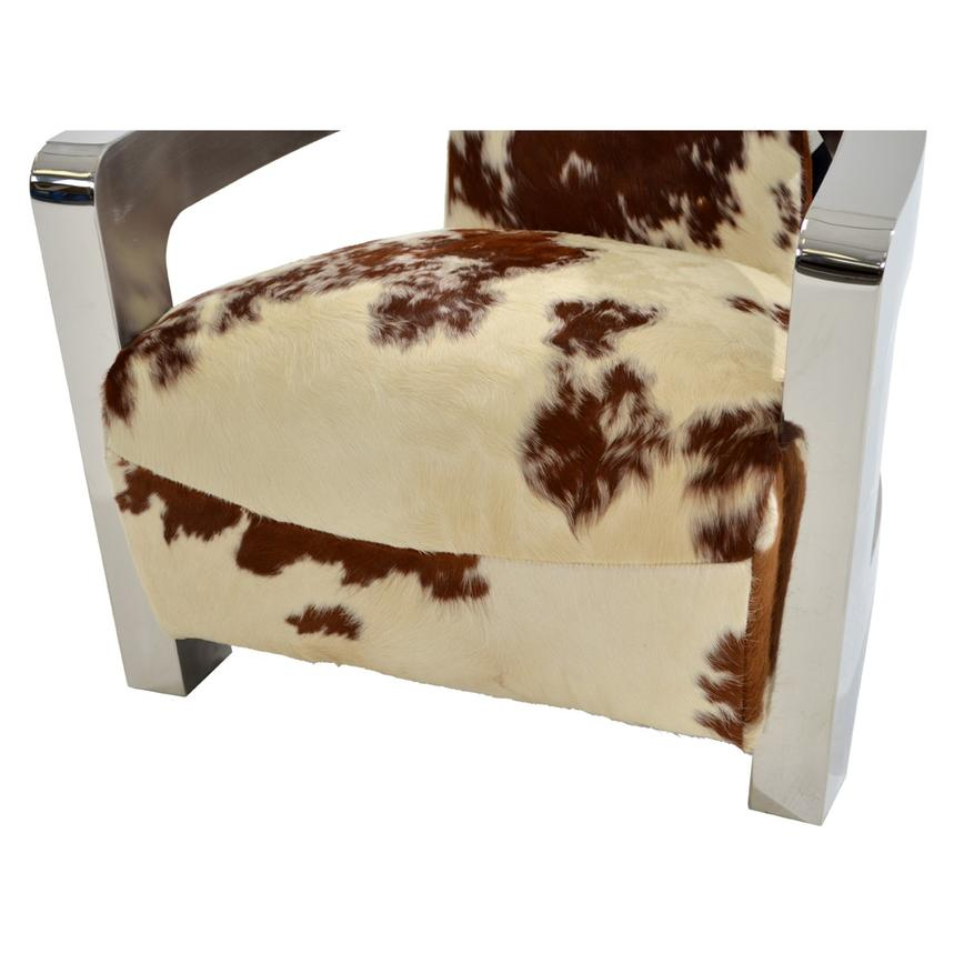 Aviator Brown Cowhide Leather Accent Chair Alternate Image, 6 Of 8 Images.