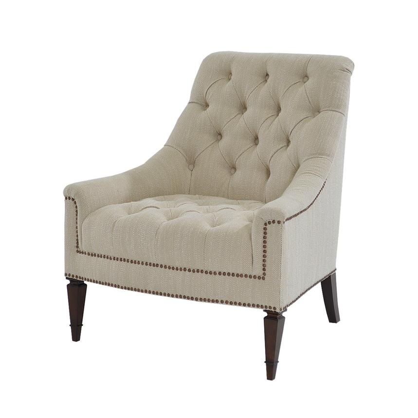 Superieur Kimberly Cream Accent Chair Main Image, 1 Of 9 Images.