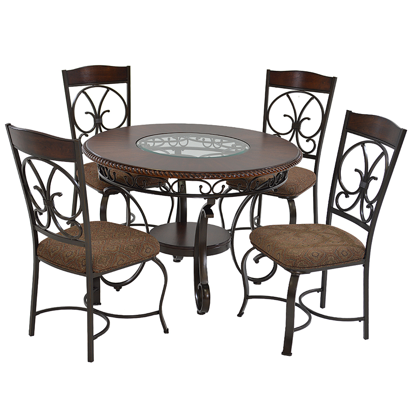 Glambrey 5 Piece Casual Dining Set Main Image, 1 Of 10 Images.