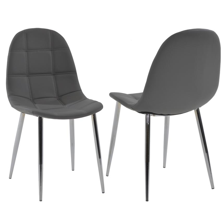 Clotus Gray Side Chair  main image, 1 of 5 images.