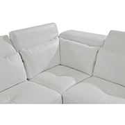 Kennedy White Leather Sofa w/Left Chaise  alternate image, 4 of 8 images.