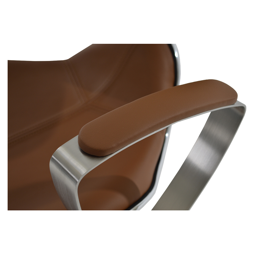 Jaylo Camel Adjustable Stool El Dorado Furniture
