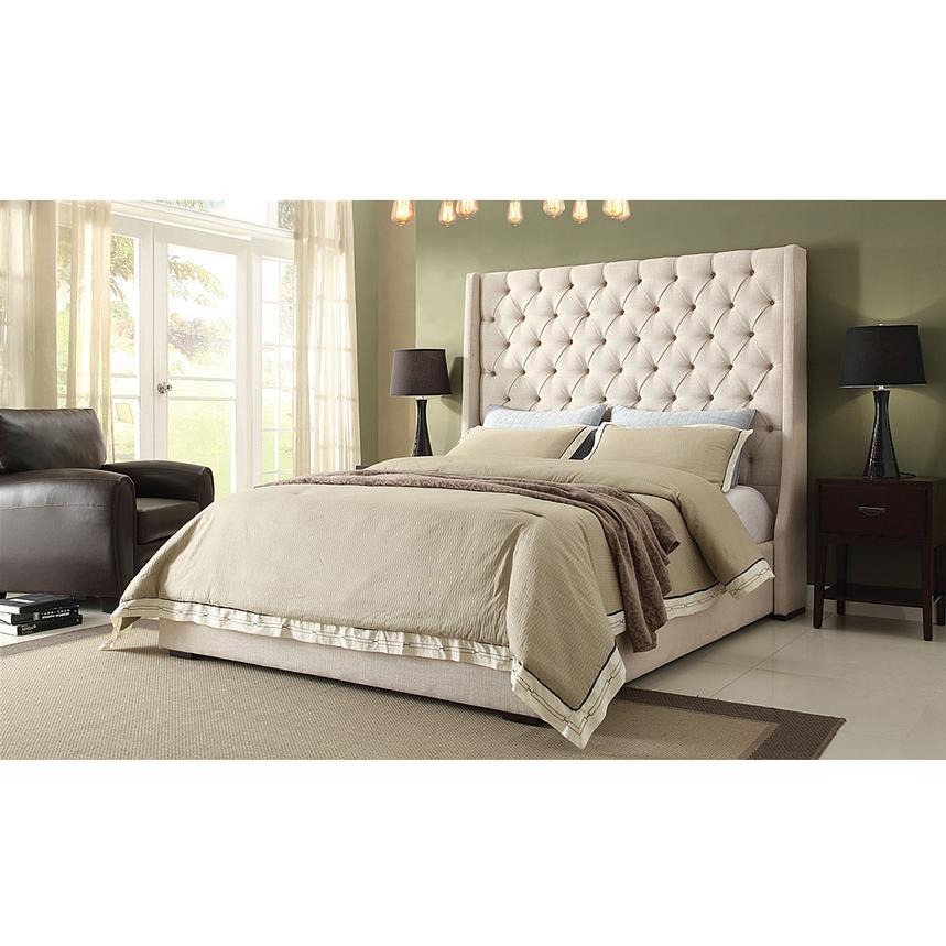 Park Avenue Cream King Platform Bed El Dorado Furniture
