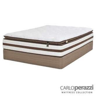 Siena Queen Mattress Set w/Regular Foundation by Carlo Perazzi