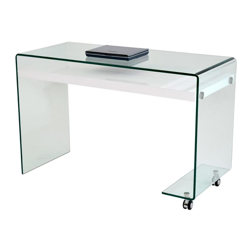 Mirage Desk w/Casters  main image, 1 of 6 images.