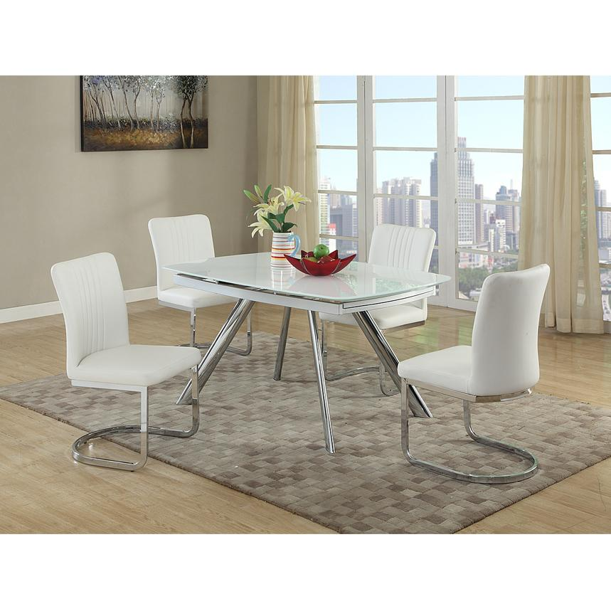 Alina White 5-Piece Casual Dining Set  alternate image, 2 of 8 images.